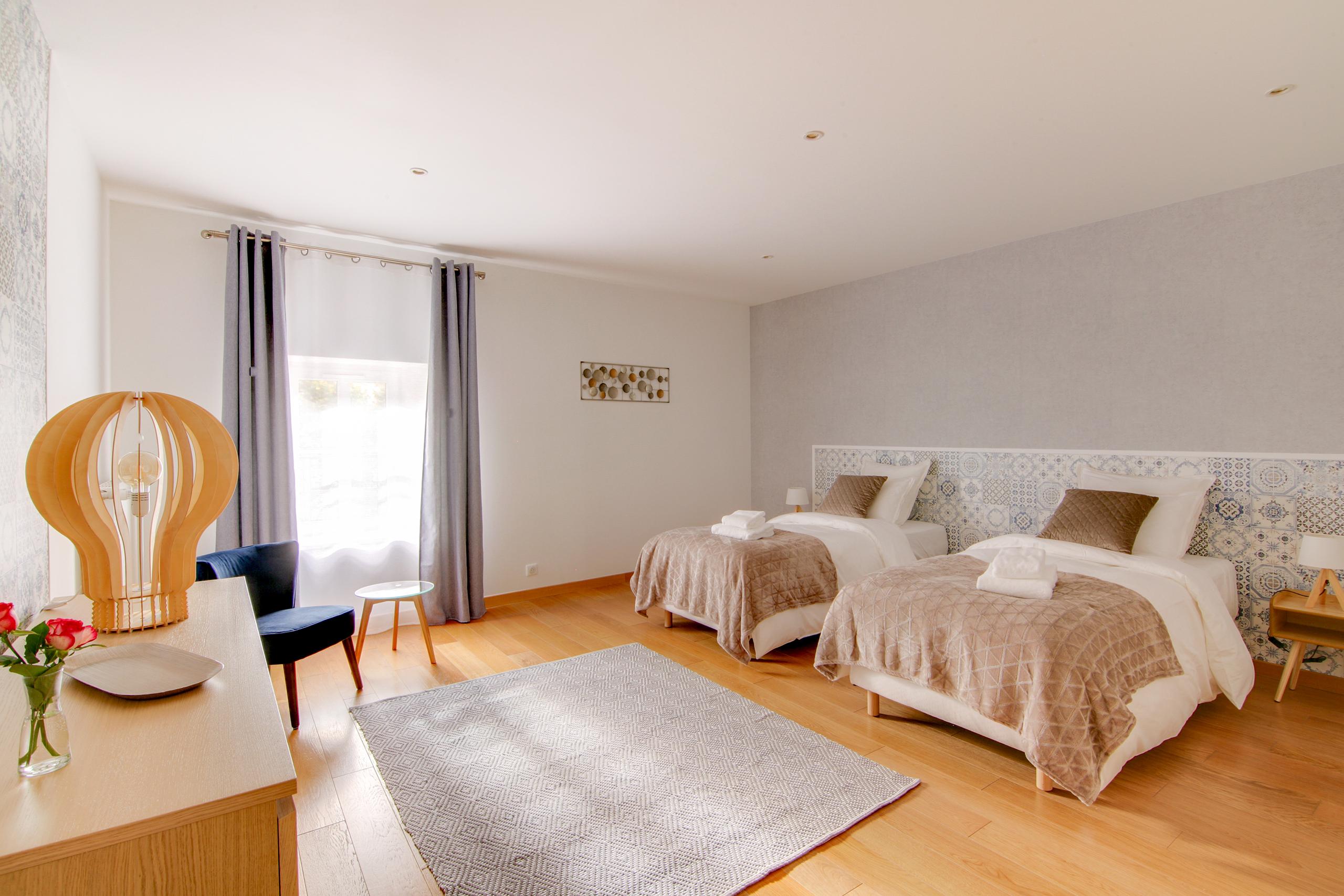 Chambre double-Suite hygge- La Villa des Ducs
